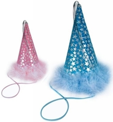Charming Party Hats - Pink or Blue