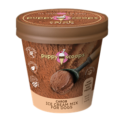 Puppy Scoops Ice Cream Mix - Carob Ice Cream for dog, DIY treats for dogs, Puppy Scoops, Carob Ice Cream for Dogs, Homemade Ice Cream for dogs, Healthy treats for dogs, Carob Puppy Scoops, Puppy Scoops, Real Ice for Dogs, healthy ice cream for dogs, frozen treats for dogs, dog treats, homemade treats for dogs