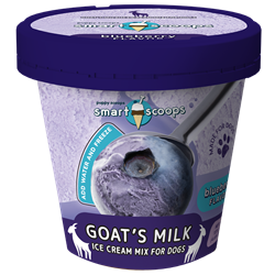 Smart Scoops Goats Milk Ice Cream Mix - Blueberry Ice Cream for dog, DIY treats for dogs, Puppy Scoops, Pumpkin Ice Cream for Dogs, Homemade Ice Cream for dogs, Healthy treats for dogs, Pumpkin Puppy Scoops, Puppy Scoops, Real Ice for Dogs, healthy ice cream for dogs, frozen treats for dogs, dog treats, homemade treats for dogs, fun treats to make for your dog, goats milk ice cream, goats milk, no sugar ice cream