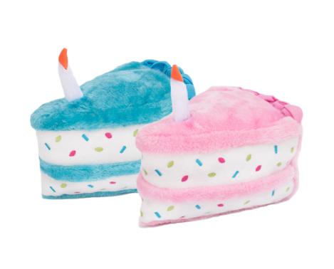 Outstanding Sprinkle Birthday Cake Slice 6 With Squeaker Pink Or Blue Personalised Birthday Cards Sponlily Jamesorg